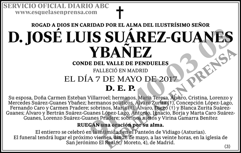 José Luis Suárez-Guanes Ybañez